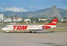 TAM Fokker 100 PT-MRD c/n 11322  Airplane Postcard