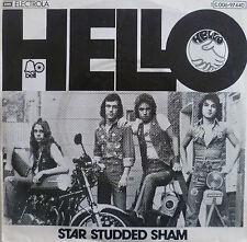 "7"" 1976 GLAM !  HELLO : Star Studded Sham // MINT- \"