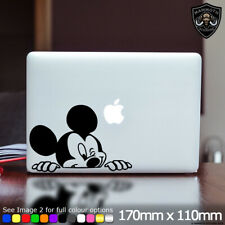 Mickey Mouse Peeking Laptop Sticker Art Decal Disney Fits Apple Macbook 13 Inch