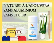 Aloe Vera Dentifrice & Déodorant sans aluminium & Brosse à dents en Bambou🎋