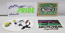 Vintage Lot of 4  Arctic Cat Snowmobile Sticker Decal Cat's Pride Riders Club