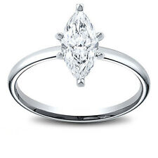 14K Gold 0.72 ct Marquise Cut Diamond Solitaire Engagement Ring H SI2