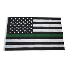 Green Line usa Police Flags 90*150cm American Flag Polyester US Flag USA Banner