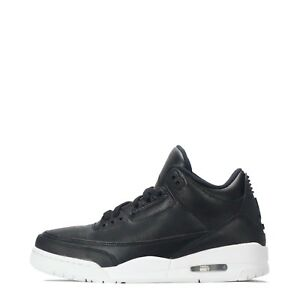 Air Jordan 3 Retro Men's Leather Basketball Casual Trainers Shoes Black/ White
