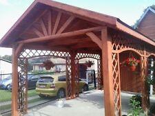 Carport Holzpavillon Pavillon 750x300 mit Geräteraum NEU [1 ]