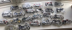 1/18 Scale Diecast Model Job Lot Motorbikes Motorcycles Maisto X23 Harley Etc