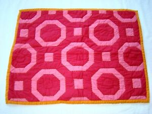 POTTERY BARN KIDS Standard Quilted Sham Emmy Pink Multicolor 6416 100% Cotton