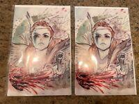 2X Horizon Zero Dawn #1 Peach Momoko Exclusive Forbidden Planet Virgin Variant