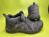 Keen Mens Waterproof Lace Up Hiking Boots Black Size 13