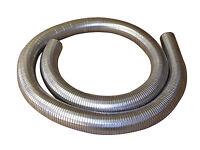 "50mm 2"" Flexible Polylock Stainless Steel Flexi Tube 3/4 Metre Exhaust Universal"