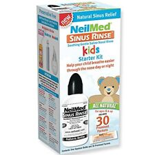 9 Pk NeilMed Sinus Rinse Kids Starter Kit 1 Squeeze Bottle & 30 Premixed Pacs Ea