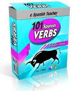 eSpanishTeacher Learn To Speak 101 Spanish Verbs Course Windows & Mac