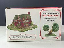 "Liberty Falls ""Dr. Sandy Veterinarian"" House Ah187 & ""Oldest Tree"" Ah123 New!"