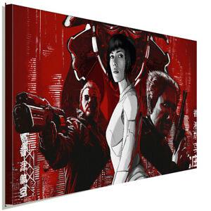 Ghost in the Shell Leinwandbild AK ART Kunstdruck Mehrfarbig Wandbild TOP XXL