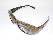 figuretta solaire- dessus des lunettes UV 400 polarisé Marron à motif à