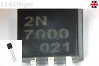 2N7000 N-Channel MOSFET (TO-92) - 60V 0.2A Transistor . .