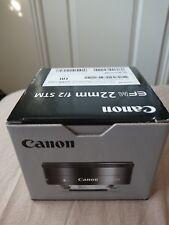 Brand New Canon EF-M 5985B002 22mm F/2.0 STM Lens (UK)