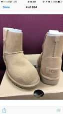 Uggs Classic Unlined Mini Perforated  Size 8  Tawney Color