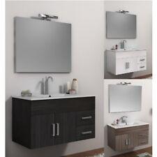 Mobile per Bagno sospeso 100 cm 3 colori arredo con lavabo in ceramica mobili|ds