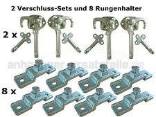 HGW Bordwanderhöhung Set für Anhänger - 8 Rungenhalter und 2 Verschluss-Sets