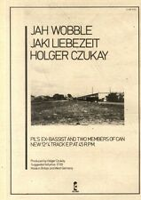 27/6/81PN48 ADVERT 10X7 JAH WOBBLE, JAKI LIEBEZEIT & HOLGER CZUKAY
