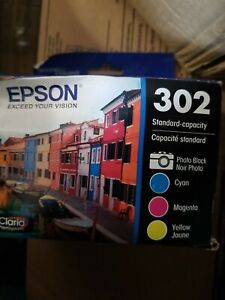 Epson 302 Photo Black & Cyan Magenta Yellow Ink Cartridges T302520 Genuine