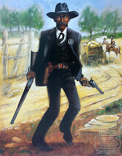 """African American Art """"Bass Reeves, Marshal"""" Western Art Print by Henry C. Porter"""