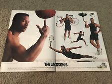 Vintage 1989 BO JACKSON NIKE AIR TRAINER SC Poster Print Ad Cross-Trainer Shoes