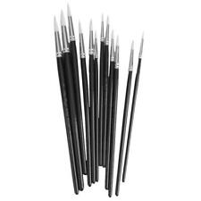 12Pcs Acrylic Oil Watercolor Painting Brushes Artist Mix Size Paint Brushes