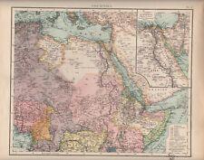Landkarte map 1905: OST-AFRIKA. Ägypten