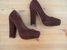 Block Heel Faux Suede Upper Shoes for Women NEXT