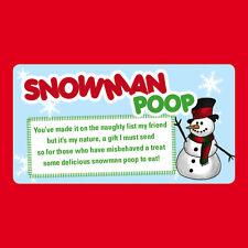 48 X Navidad Nieve Hombre Caca Poema negocio de las pegatinas Navidad Etiqueta Divertido-Ch24