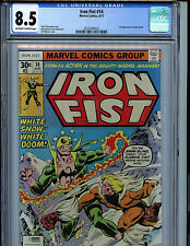 Iron Fist #14 Marvel Comics CGC 8.5 VF+ 1977 1st Sabretooth