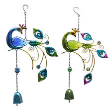Large Garden Peacock Wind Chimes Home Garden Outdoor Hanging Ornament 46 x 24cm