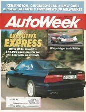 AUTOWEEK 1990 JUNE 11 - BMW 318Is & 850i, ALLANTE, BORGWARD ISABELLA, CART