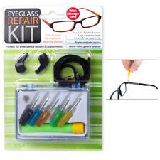 Eyeglass Repair Kit Storage Case Tiny Screws Nut Screwdriver Watch Glasses Tool