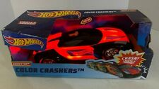 Hot Wheels Color Crashers LIght Up Red Remote Control Car