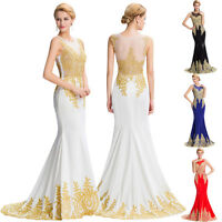 Long Formal Masquerade Ball Gowns Dress Party Evening Prom Maxi Dresses Size4-18