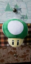 "Nintendo Super Mario Bros Green 1-Up Mushroom 8"" Plush Soft Toy Official"