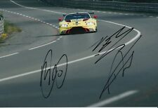 Sorensen, Thiim, Turner Hand Signed Aston Martin Racing 12x8 Photo 2018 Le Mans.