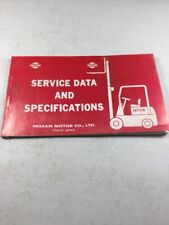 Nissan Datsun Forklifts Service Data & Specifications-Pics For Included Models