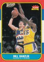 1986-87 Fleer Basketball Bill Hanzlik # 43 Denver Nuggets