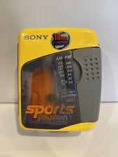 Sony Sports Walkman Mega Bass Cassette Tape/Am/Fm Wm-Fs399 - Tested And Working