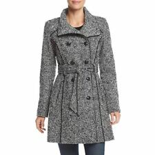 NEW GUESS   Tweed Double Breasted Coat Funnel Neck Size XXL