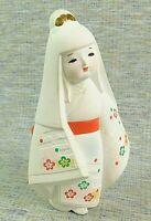 Vintage Toyo Hakata Doll Geisha Girl Hand Painted Bisque Ceramic Figurine Japan