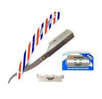 Barber Razor Folding Knife Shaving Blade w/ 10 Replaceable Blades