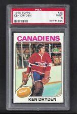 1975  Topps #35, Ken Dryden, HOF, PSA 9 MINT, Montreal Canadiens Hockey 1975-76