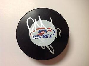 Dustin Byfuglien Signed Autographed Team USA U.S.A Hockey Puck a