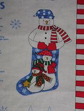 1998 Fabric Traditions SNOW BUDDIES Stocking Panel