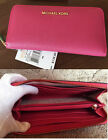 BRAND New With Tags Michael Kors Zip Around Wallet fuschia